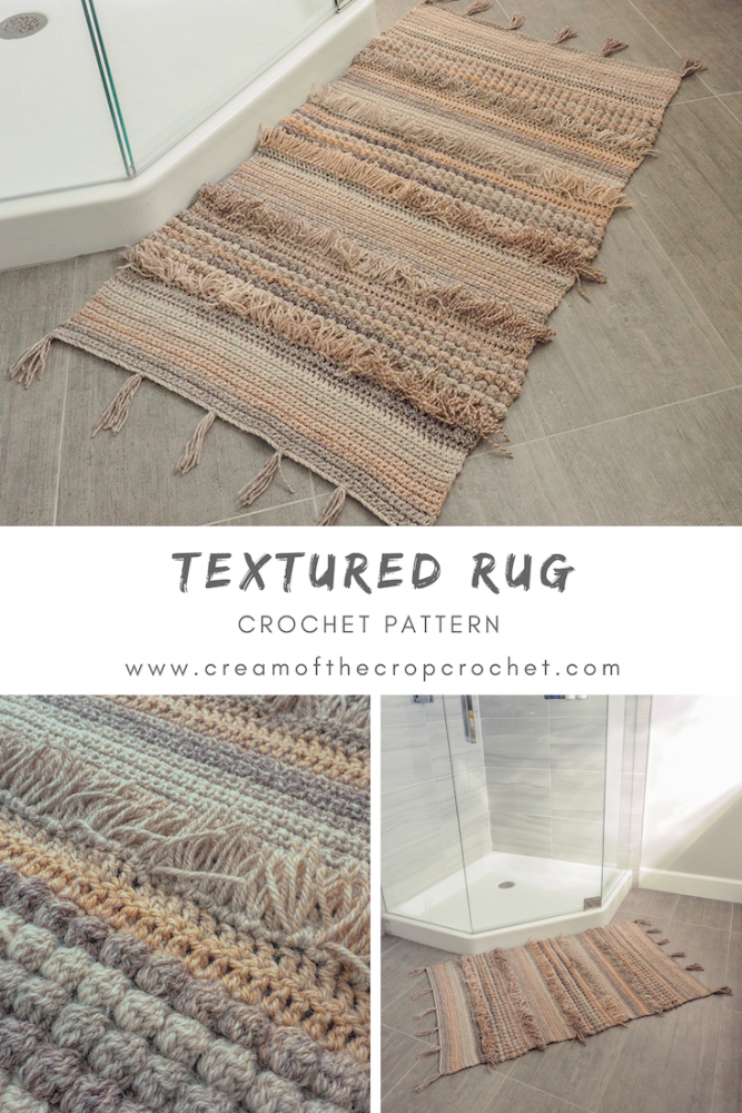 This Textured Rug is the perfect gift for new home owners, or a nice DIY addition if you're redecorating. #crochetrug #crochetpattern #crochetlove #crochetaddict