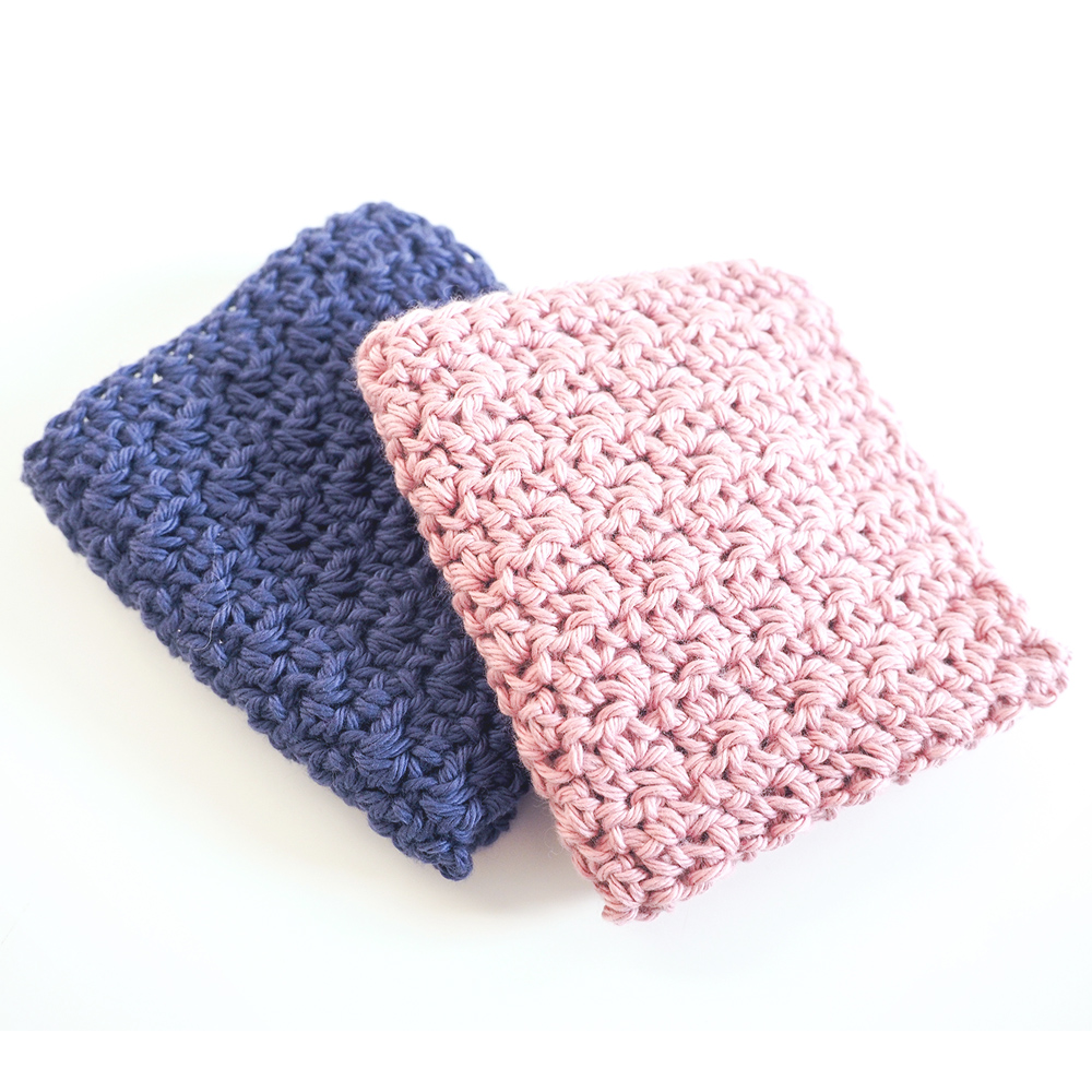 This washcloth set is perfect for pampering - they're stitched up using a beautiful lemon peel stitch. #crochetwashcloth #crochetpattern #crochetaddict #crochetlove