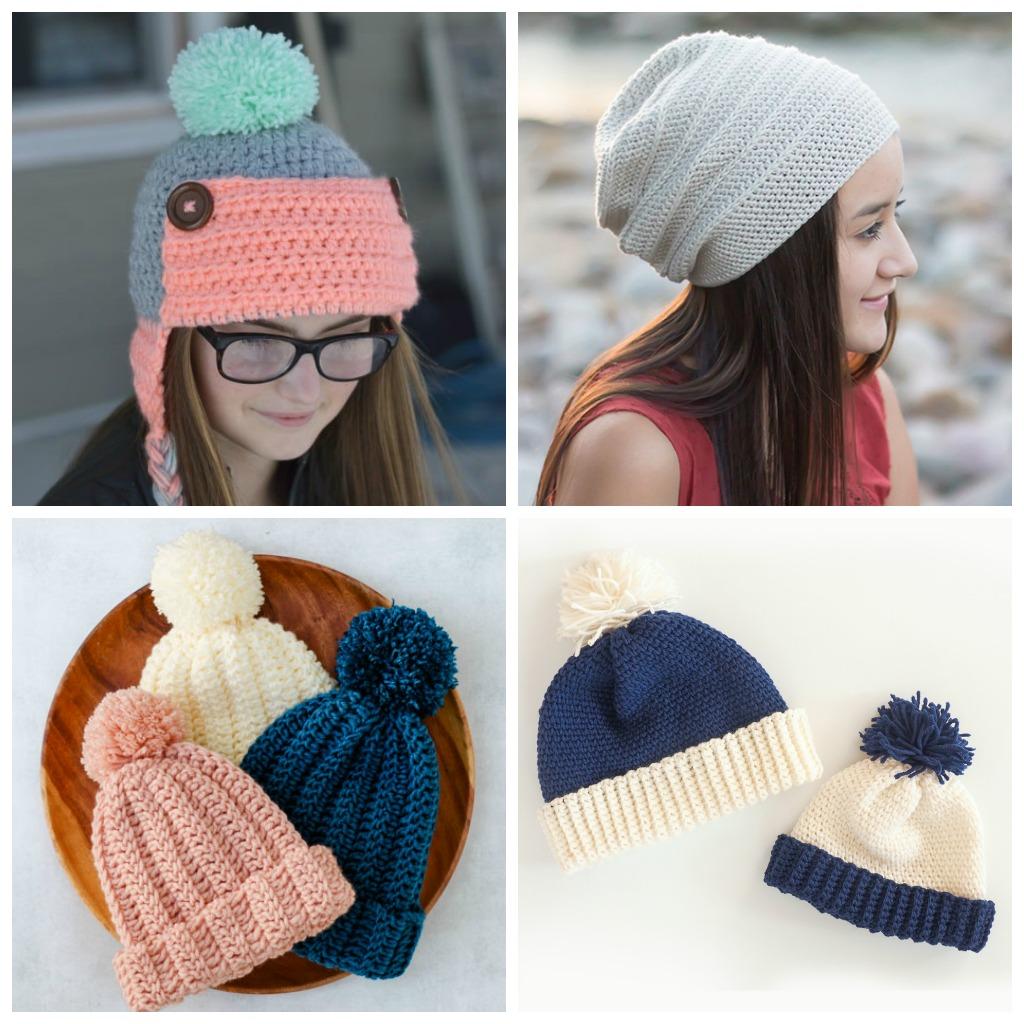 ecd0e5ad7bad79 Top 21 Easy to Crochet Winter Hats | Cream Of The Crop Crochet