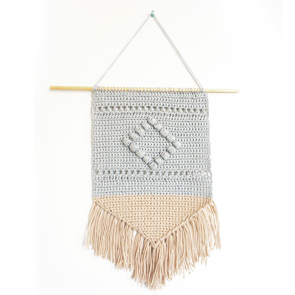 Boho Wall Hanging Crochet Pattern Cream Of The Crop Crochet