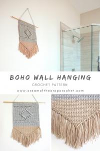 Boho Wall Hanging Crochet Pattern