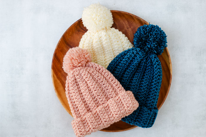 Easy Knit Look Crochet Hat