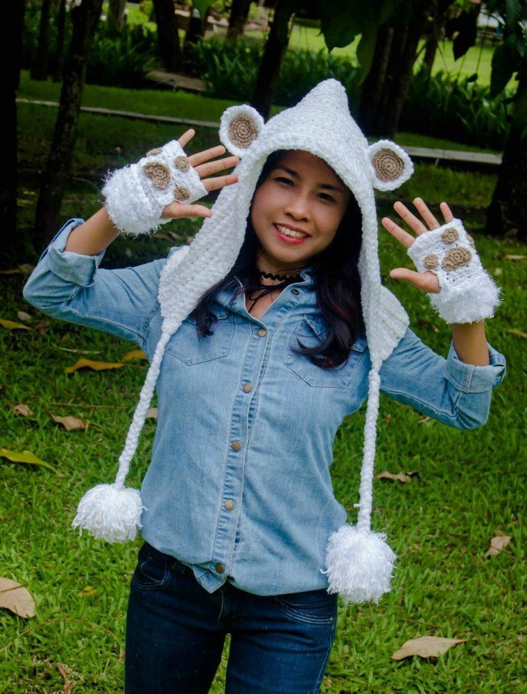 Fun Bear Hoodie Hat