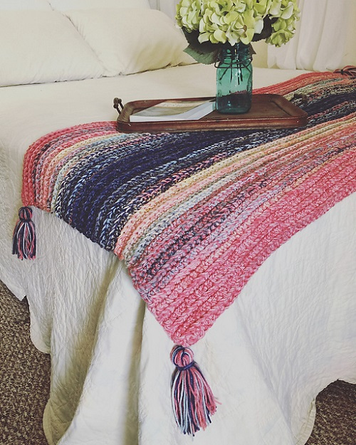 Just Marl It Throw Pretty Crochet Blanket