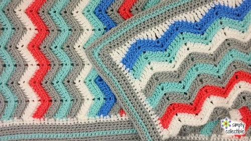 Rich Kids Chevron Blanket