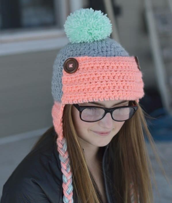 Women's Button Trapper Hat