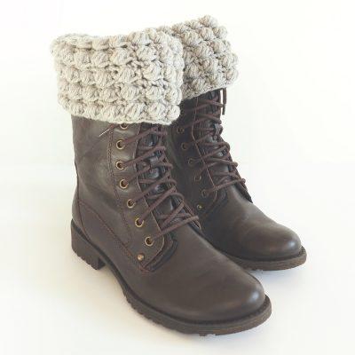 Bobble Stitch Boot Cuff