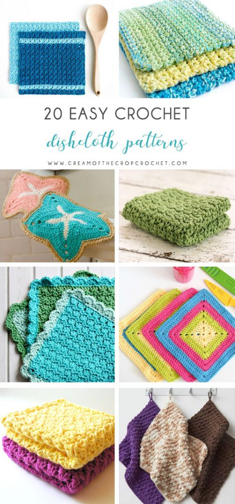 Crochet dishcloth patterns are fun to work up and faster than any others. This list has a crochet dishcloth pattern for every occasion and every preference. #EasyCrochetDishclothPatterns #crochetpatterns #dishclothpatterns #crochetaddict