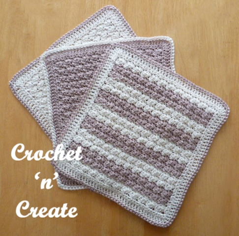 Cotton Dishcloth - Crochet dishcloth patterns are fun to work up and faster than any others. #EasyCrochetDishclothPatterns #crochetpatterns #dishclothpatterns #crochetaddict