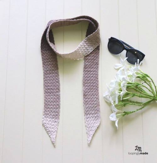 Mocha Skinny Scarf Crochet Pattern - These crochet scarf patterns will inspire creativity and excitement in you. #crochetscarfpatterns #crochetpatterns #crochetscarf #crochetaddict