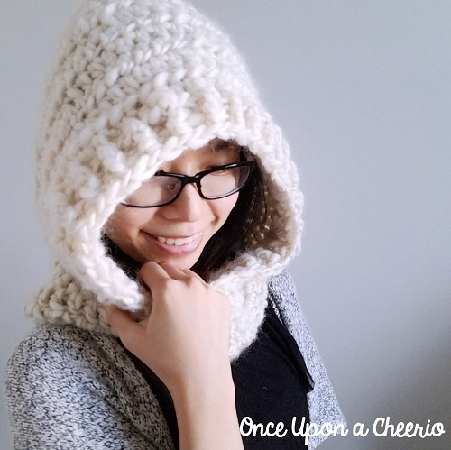 Through Thick and Thin Hooded Scarf Crochet Pattern - These crochet scarf patterns will inspire creativity and excitement in you. #crochetscarfpatterns #crochetpatterns #crochetscarf #crochetaddict