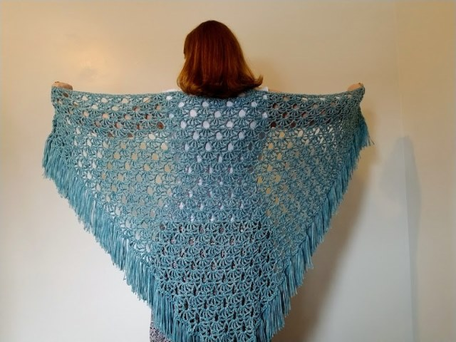April Showers Shawl - This list has 20 free crochet shawl patterns, each unique and suitable for any occasion. These are the best shawl patterns out there. #CrochetShawlPatterns #CrochetShawl #FreeCrochetPatterns