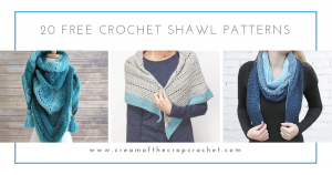 This list has 20 free crochet shawl patterns, each unique and suitable for any occasion. These are the best shawl patterns out there. #CrochetShawlPatterns #CrochetShawl #FreeCrochetPatterns
