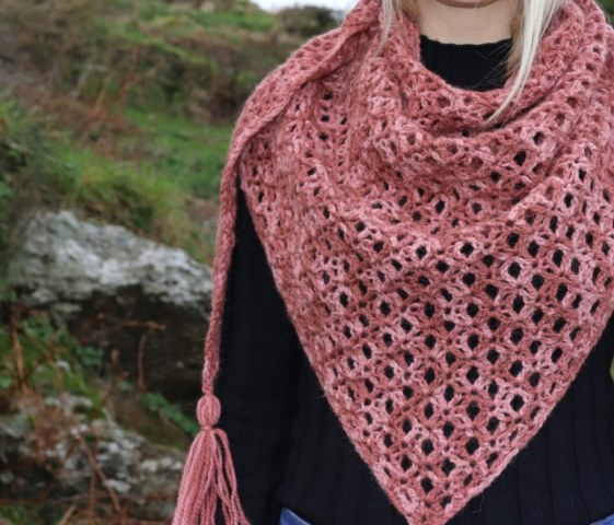 Halo Shawl - This list has 20 free crochet shawl patterns, each unique and suitable for any occasion. These are the best shawl patterns out there. #CrochetShawlPatterns #CrochetShawl #FreeCrochetPatterns