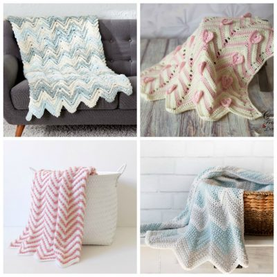 12 Chevron Crochet Blanket Patterns