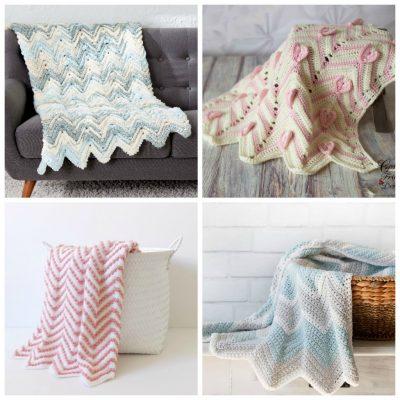 12 Chevron Crochet Blanket Patterns