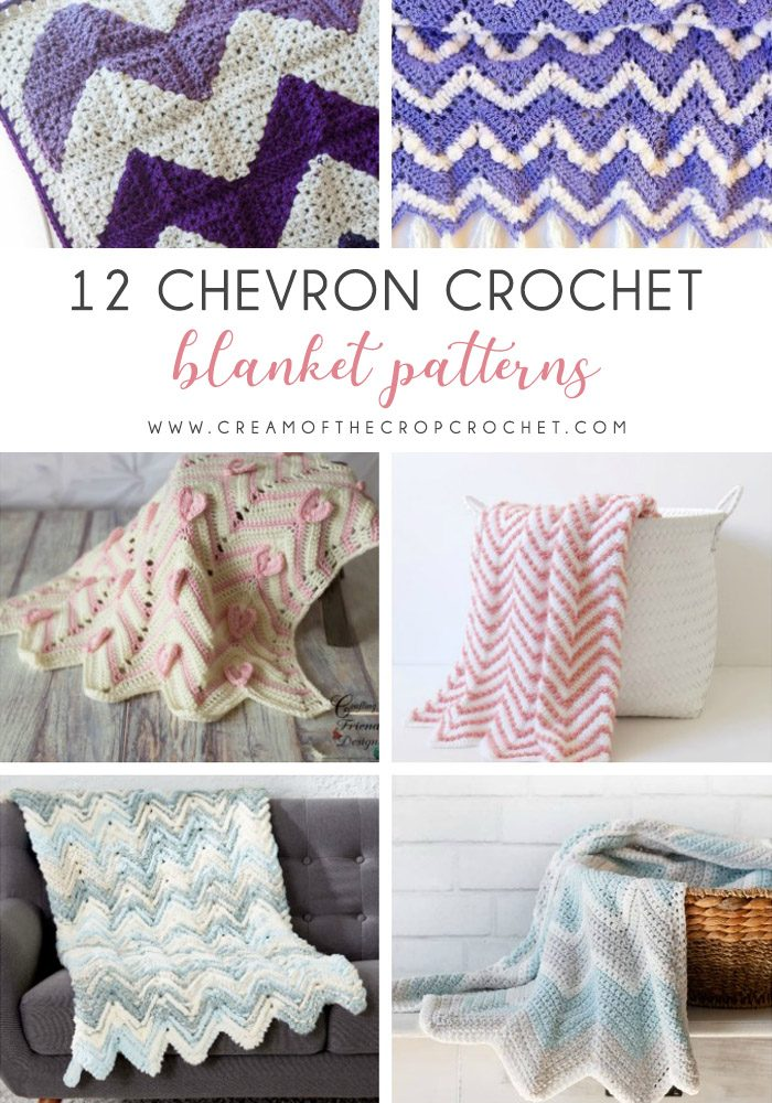 12 Chevron Crochet Blanket Patterns Cream Of The Crop Crochet