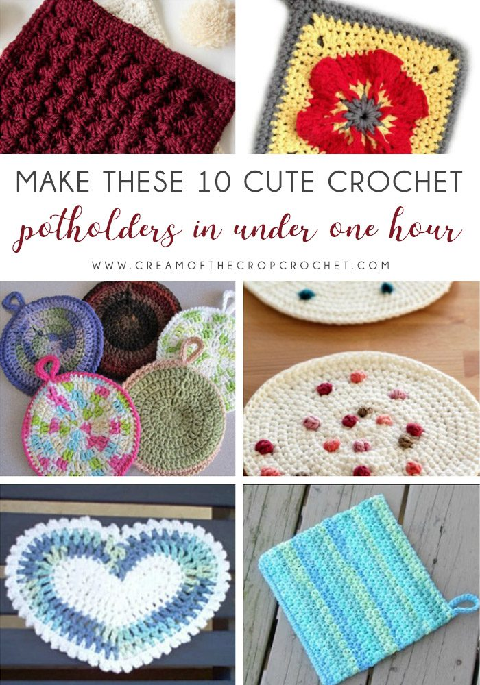 Make These 10 Cute Crochet Potholders In Under 1 Hour Cream Of The