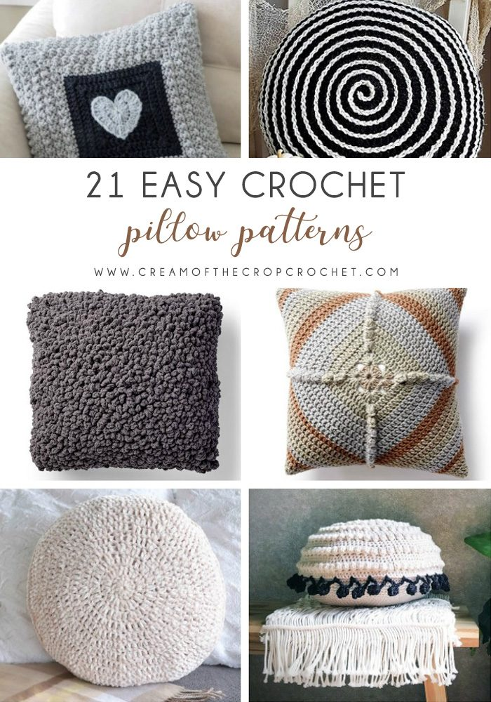These are the best pillows and they're all so beautiful. There are more fun, vibrant designs and more modern crochet pillows on this list. #EasyCrochetPillows #CrochetPillows #CrochetPatterns