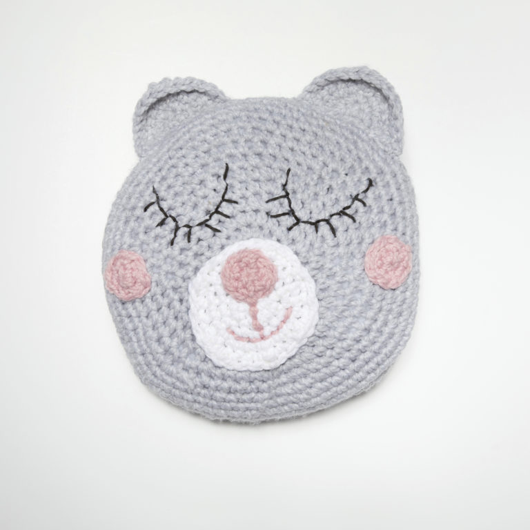 Girls Sleepy Teddy Pillow - These are the best pillows and they're all so beautiful. There are more fun, vibrant designs and more modern crochet pillows on this list. #EasyCrochetPillows #CrochetPillows #CrochetPatterns