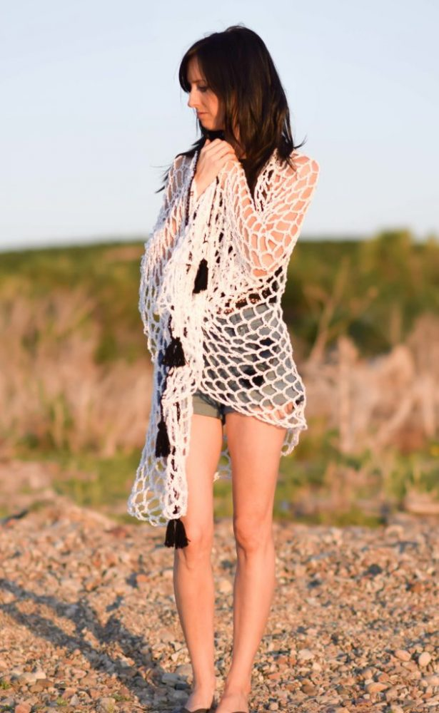 Infinite Ways Crochet Sarong - These DIY crochet beach cover ups are stylish and fun to make. From a crochet wrap to a crochet tunic, you can make something for anyone's style. #CrochetBeachCoverUps #CrochetPatterns #FreeCrochetPatterns