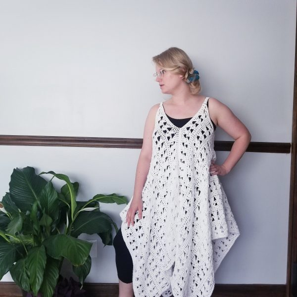 Navarre Crochet Beach Dress - These DIY crochet beach cover ups are stylish and fun to make. From a crochet wrap to a crochet tunic, you can make something for anyone's style. #CrochetBeachCoverUps #CrochetPatterns #FreeCrochetPatterns
