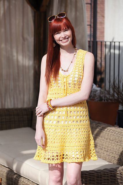 South Beach Cover-up - These DIY crochet beach cover ups are stylish and fun to make. From a crochet wrap to a crochet tunic, you can make something for anyone's style. #CrochetBeachCoverUps #CrochetPatterns #FreeCrochetPatterns