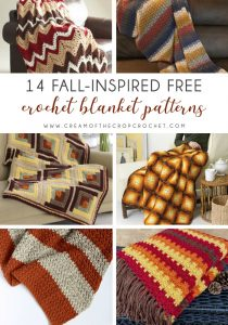 14 Fall-Inspired Free Crochet Blanket Patterns - We're celebrating the arrival of Fall by putting together these Fall-inspired free crochet blanket patterns. #freecrochetblanketpatterns #crochetpatterns #fallcrochetblankets