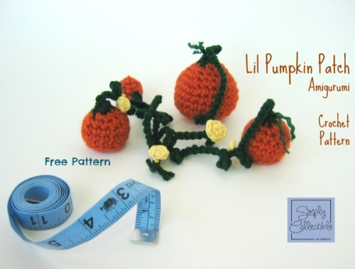 Lil Pumpkin Patch Amigurumi - These 13 crochet Halloween pumpkin patterns should be enough to create all the pumpkins you want. #crochethalloweenpumpkins #crochetpatterns #halloweencrochetpatterns