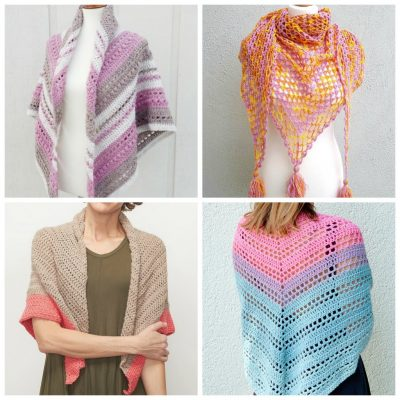 20 Simple Crochet Patterns for Shawls