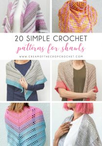 20 Simple Crochet Patterns for Shawls - No matter what you're looking for these crochet shawl patterns will allow you to learn, grow and express yourself! #crochetshawlpatterns #crochetpatterns #freecrochetpatterns