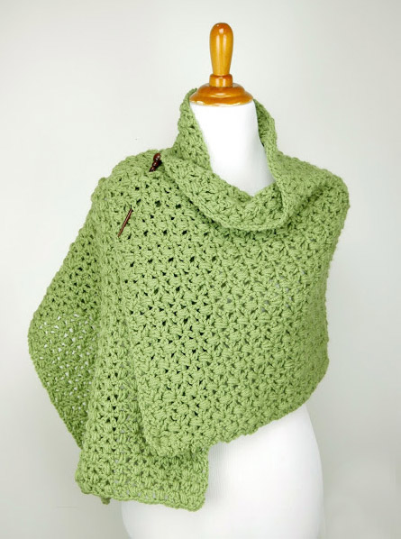 Fiddlehead Shawl - No matter what you're looking for these crochet shawl patterns will allow you to learn, grow and express yourself! #crochetshawlpatterns #crochetpatterns #freecrochetpatterns