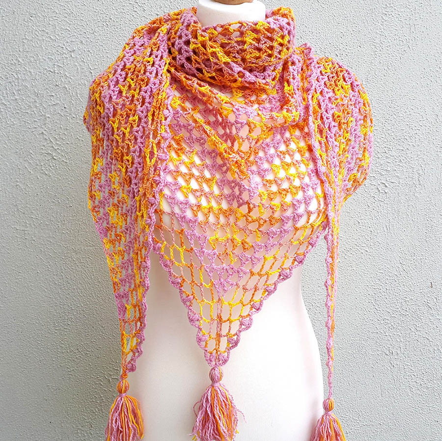 Fruit Salad Shawl - No matter what you're looking for these crochet shawl patterns will allow you to learn, grow and express yourself! #crochetshawlpatterns #crochetpatterns #freecrochetpatterns