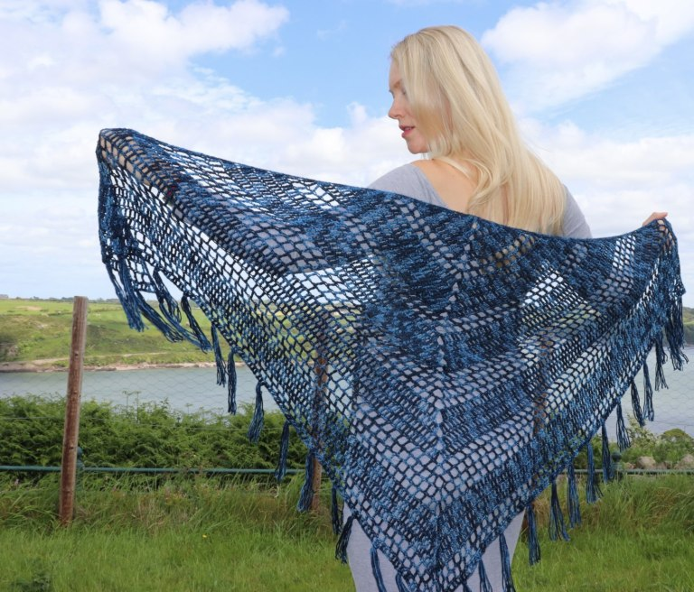 Nightfall - No matter what you're looking for these crochet shawl patterns will allow you to learn, grow and express yourself! #crochetshawlpatterns #crochetpatterns #freecrochetpatterns