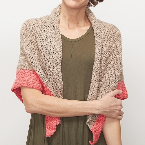 Pop of Color Shawl - No matter what you're looking for these crochet shawl patterns will allow you to learn, grow and express yourself! #crochetshawlpatterns #crochetpatterns #freecrochetpatterns