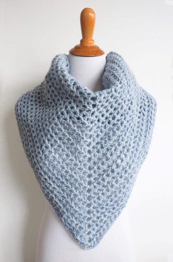 Wine Country Triangle Shawl - No matter what you're looking for these crochet shawl patterns will allow you to learn, grow and express yourself! #crochetshawlpatterns #crochetpatterns #freecrochetpatterns