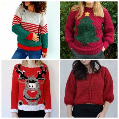 13 Free Crochet Sweater Patterns for the Holiday Season