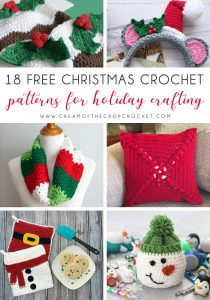 18 Free Christmas Crochet Patterns for Holiday Crafting - This list of free crochet patterns has some fun Christmas decorations that will deck your halls and bring jolly to your days! #crochetpatterns #christmascrochetpatterns #holidaycrochetpatterns