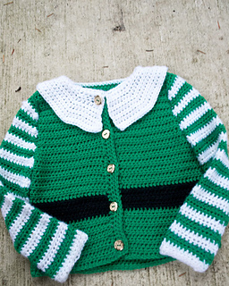 Santa's Little  Helper Sweater - Here are 13 free crochet sweater patterns for the holiday season, including adorable outfits for baby, and out-of-this-world ugly Christmas sweaters! #freecrochetsweaterpatterns #crochetpatterns #crochetsweaters