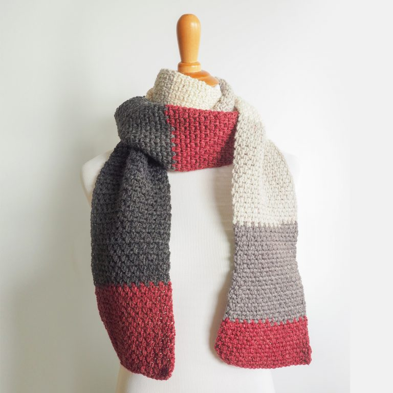 The Boyfriend Scarf - This list of free crochet patterns has some fun Christmas decorations that will deck your halls and bring jolly to your days! #crochetpatterns #christmascrochetpatterns #holidaycrochetpatterns