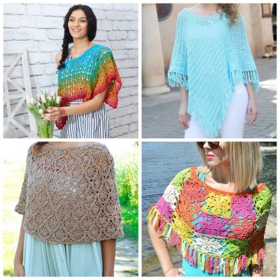 17 Figure Flattering Free Crochet Poncho Patterns