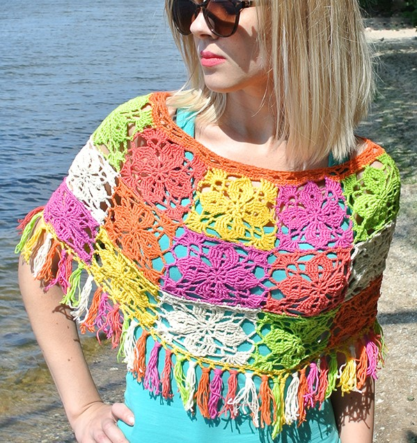 Crochet Summer Poncho - These free crochet poncho patterns may be used this winter, but many of the designs here can also work up to spring and even on a cool summer day! #freecrochetponchopatterns #crochetponcho #crochetpatterns
