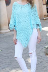 Garden Poncho - These free crochet poncho patterns may be used this winter, but many of the designs here can also work up to spring and even on a cool summer day! #freecrochetponchopatterns #crochetponcho #crochetpatterns