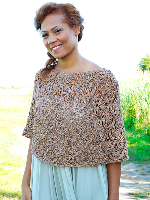Lisbon - These free crochet poncho patterns may be used this winter, but many of the designs here can also work up to spring and even on a cool summer day! #freecrochetponchopatterns #crochetponcho #crochetpatterns
