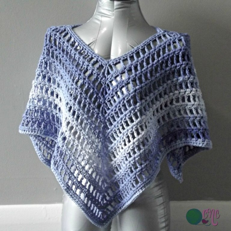 Simple Summer Poncho - These free crochet poncho patterns may be used this winter, but many of the designs here can also work up to spring and even on a cool summer day! #freecrochetponchopatterns #crochetponcho #crochetpatterns