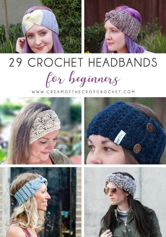 29 Crochet Headbands for Beginners - These crochet headbands will be a great gift for your little daughters, nieces or girlfriends who love to keep their hair away from their faces. #crochetheadbands #crochetheadbandpatterns #crochetpatterns