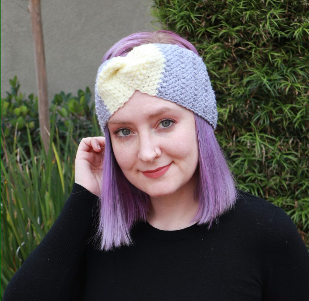Whitney Headband - These crochet headbands will be a great gift for your little daughters, nieces or girlfriends who love to keep their hair away from their faces. #crochetheadbands #crochetheadbandpatterns #crochetpatterns